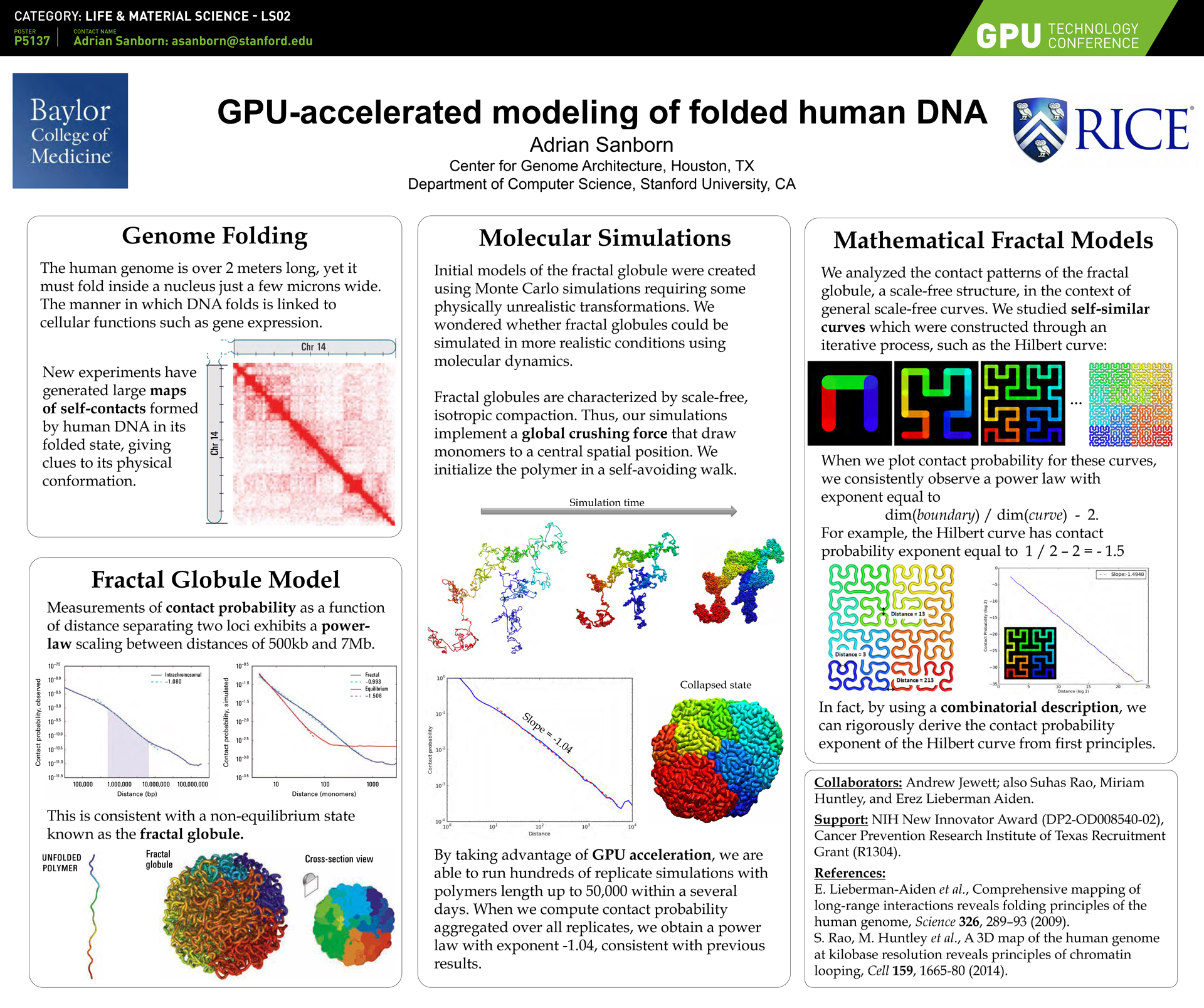 Life & Material Sciences Conference Posters | GTC 2017 Molecular Clock Human